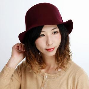ハット 日本製 マズルカ 秋冬 クロッシェ レディース 帽子 Mazurek ウール 婦人 エンジ elehelm-hatstore