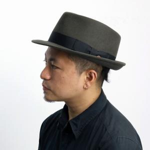 大きいサイズ メンズ ウール 秋冬 ハット レディース  MAYSER ハット 帽子 中折れハット メンズ マイザーフェルトハット メンズ/チャコール elehelm-hatstore