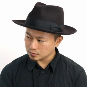 中折れハット メンズ マイザー ワイドブリム ラビットファーフェルト 秋冬 ハット フェルトハット メンズ MAYSER ハット 帽子 大きいサイズ メンズ/グレー|elehelm-hatstore