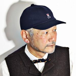 Psycho Bunny 秋 冬 ステッチキャップ 帽子 6方キャップ 刺繍 コットン キャップ メンズ レディース 紺 ネイビー|elehelm-hatstore