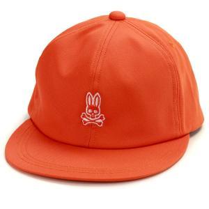 キッズ キャップ レディース 春夏 メンズ サイコバニー 親子コーデ Psycho Bunny ビタミンカラー/オレンジ|elehelm-hatstore