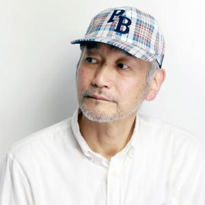 サイコバニー サッカー生地 チェック キャップ Psycho Bunny メンズ 春夏 帽子 レディース 野球帽 青 ブルー|elehelm-hatstore