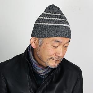 ビーニー帽 ニット帽 メンズ レディース 帽子 ボーダーニット 秋冬 Psycho Bunny ニット ニットワッチ サイコバニー/グレー|elehelm-hatstore