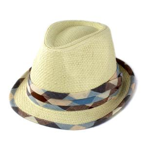 ハット キッズ 子供 帽子 中折れハット キッズファッション ペーパー素材 春夏 クリーム色 elehelm-hatstore