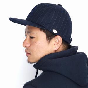 秋冬 MAISON Birth 帽子 レディース ペンシルストライプ キャップ メンズ メゾンバース CAP ウール 大人/ネイビー elehelm-hatstore