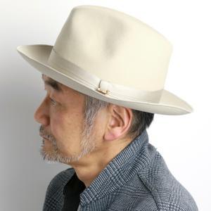 大人 中折れハット メンズ 秋冬 MAISON Birth 帽子 ハット メゾン バース hat ラビットファー ギフト プレゼント/ライトベージュ|elehelm-hatstore