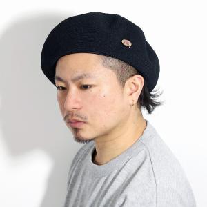 光沢 MAISON Birth ナチュラル 帽子 サマーベレー帽 春夏 ベレー メンズ メゾン バース ベレー帽 レディース サマーベレー/黒 ブラック|elehelm-hatstore
