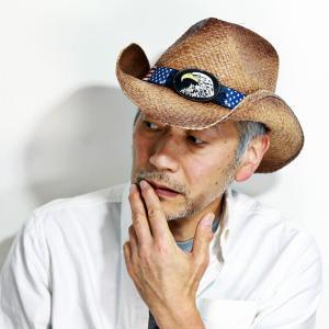 34a720aab2a ラフィア ハット メンズ カウボーイ 春夏 帽子ピーターグリム Big Jim USバンド イーグルバックル レディース 茶 ブラウン ティー