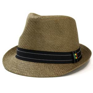 ストローハット 天然ハット 帽子 夏 ピーターグリム ペーパー素材 中折れ 小つば シンプルデザイン pgf1198 FRAGILE ブラウン|elehelm-hatstore