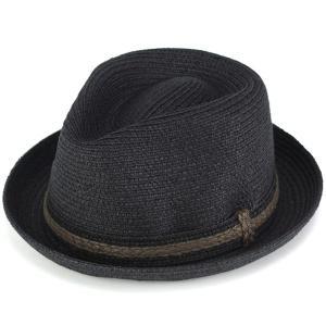 中折れ帽 ハット ナチュラル素材 ピーターグリム メンズ 帽子 春 夏 pgf1477 HESSEN ブラック|elehelm-hatstore