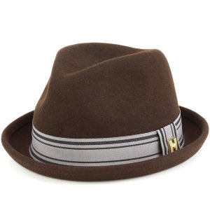 PETER GRIMM ピーターグリム 秋冬 中折れ フェルトブリムアップ ハット レディース メンズ 帽子 KINDLE 茶 ブラウン elehelm-hatstore