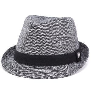 PETER GRIMM ピーターグリム 秋冬 ウール マニッシュ ハット メンズ 帽子 WALTER チャコール|elehelm-hatstore