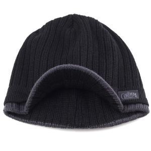 PETER GRIMM ピーターグリム メンズ レディース ツバ付 ニット帽 アクリル スポーティー reno ブラック|elehelm-hatstore