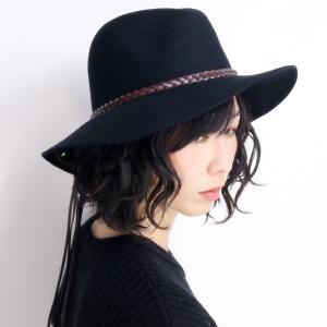 PETER GRIMM ピーターグリム ツバ広 ウールハット 帽子 メンズ レディース golda ブラック|elehelm-hatstore