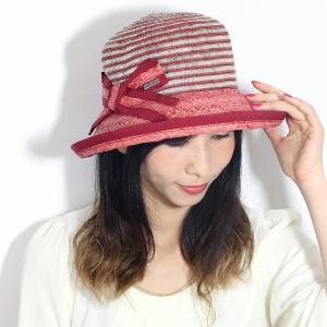 ストローハット イタリア製  ROBERTidea レディース 帽子 春夏 麦わら帽子 セーラー ハット ロベルトイデア  つば広 リボン 小顔 大人 ギフト 赤 ワイン|elehelm-hatstore