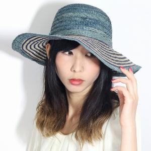 キャペリンハット 春夏 レディース 大きめ 帽子 ストローハット ラフィア リネン ROBERTidea イタリア製 つば広 麦わら帽子 ロベルトイデア ギフト 紺 ネイビー|elehelm-hatstore
