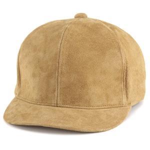 春 アンパイアキャップ ピッグスキン メンズ 帽子 CAP racal 日本製 豚革/ベージュ|elehelm-hatstore