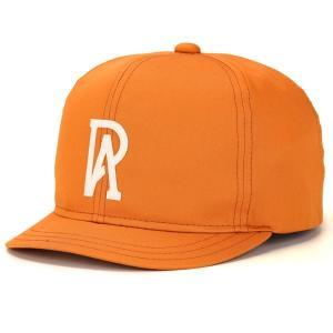 コットン ブランド 帽子 ベーシック 春夏 CAP racal 日本製 アンパイアキャップ メンズ 定番 涼しい帽子/オレンジ|elehelm-hatstore