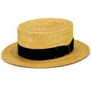 カンカン帽子 専用BOX付き 春夏 帽子 クラシック 日よけ 麦 夏のお洒落 ラカル ハット 麦わら帽子 racal 高品質/ナチュラル×ブラック|elehelm-hatstore