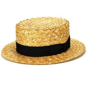 帽子 ザックリ素材 クラシック 日よけ 麦 カンカン帽子 専用BOX付き 春夏 夏のお洒落 ラカル ハット 麦わら帽子 racal 高品質/ナチュラル×ブラック|elehelm-hatstore