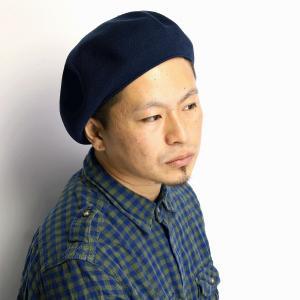 ベレー メンズ 帽子 アクリル ベレー帽 racal 秋冬 クラシカル サマーニット素材 日本製 ニットベレー レディース/ネイビー elehelm-hatstore
