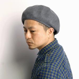 帽子 アクリル ベレー帽 racal 秋冬 ベレー メンズ レディース クラシカル サマーニット素材 日本製 ニットベレー/グレー elehelm-hatstore