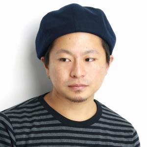 ウール ベレー帽 ブランド ゴムアジャスター付 8パネル 秋冬 帽子 racal  日本製 ベレー メンズ/紺 ネイビー|elehelm-hatstore