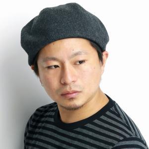 ゴムアジャスター付 日本製 ベレー メンズ 8パネル 秋冬 帽子 racal ウール ベレー帽 ブランド/チャコール|elehelm-hatstore