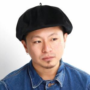 2way キャス 8パネル 秋冬 ベレー帽 メンズ キャスケット 帽子 racal 日本製 ブランド 光沢/黒 ブラック|elehelm-hatstore