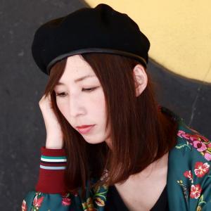 ベレー帽 秋冬 パイピングベレー帽 ブランド フェイクレザー アーミーベレー 帽子 racal  日本製 ベレー メンズ/黒 ブラック|elehelm-hatstore