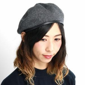 アーミーベレー ベレー帽 秋冬 パイピングベレー帽 ブランド フェイクレザー 帽子 racal  日本製 ベレー メンズ/グレー|elehelm-hatstore