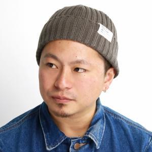 日本製 ラカル 帽子 シンプル 秋冬 リブニット ワッチキャップ レディース ニット帽 メンズ 定番 ウール racal/グレージュ elehelm-hatstore