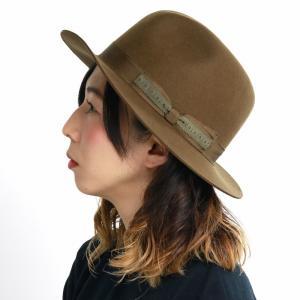 センタークリースハット 帽子 ウール ラカル アンテロープ 中折れハット メンズ 秋冬 racal/カーキ|elehelm-hatstore