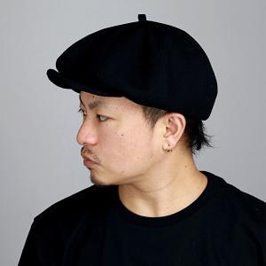 2way ニットキャスケット 春夏 ツバ付 ニットベレー帽 コットン CAP ブランド ナチュラル メンズ 帽子 racal  日本製 シンプル/黒 ブラック|elehelm-hatstore