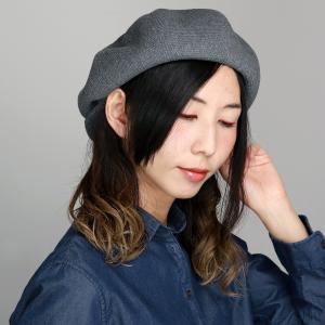ニットキャスケット 春夏 ツバ付 ナチュラル ニットベレー帽 コットン CAP ブランド 2way メンズ 帽子 racal  日本製 シンプル/グレー elehelm-hatstore
