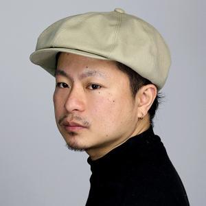 8パネル キャスケット 春夏 ツバ付 コットン キャス CAP ブランド ナチュラル メンズ 帽子 アシンメトリー racal  日本製 シンプル/ベージュ elehelm-hatstore