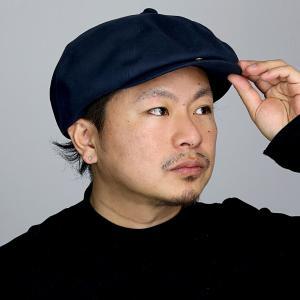 ツバ付 アシンメトリー racal  日本製 シンプル コットン キャス CAP ブランド ナチュラル メンズ 帽子 8パネル キャスケット 春夏/紺 ネイビー elehelm-hatstore