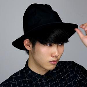 ナチュラル 中折れハット racal ハット 帽子 メンズ マウンテンハット 春夏 ハット メンズ コットン ブランド 日本製 シンプル/黒 ブラック|elehelm-hatstore