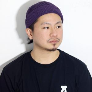 ワッチキャップ 帽子 日本製 racal ラカル ロールキャップ ニット帽 メンズ サマーニット帽 SK8 春夏 ニットキャップ cap フィッシャーマンキャップ/パープル|elehelm-hatstore