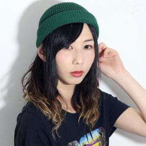 サマーニット帽 帽子 メンズ 日本製 racal ワッチキャップ ラカル ロールキャップ ニット帽  SK8 春夏 ニットキャップ cap フィッシャーマンキャップ/グリーン|elehelm-hatstore