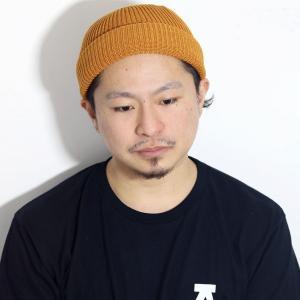 racal サマーニット帽 日本製  ワッチキャップ 春夏 ニットキャップ cap ラカル ロールキャップ ニット帽 帽子 レディース フィッシャーマンキャップ/ゴールド|elehelm-hatstore