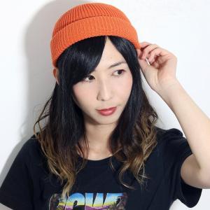 春夏 ニットキャップ cap ラカル 日本製 racal ワッチキャップ サマーニット帽 ロールキャップ ニット帽 メンズ レディース フィッシャーマンキャップ/オレンジ|elehelm-hatstore