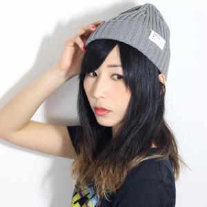ベーシック 日本製 racal cap リブ編み ニット 帽子 レディース ニットキャップ ニット帽 メンズ ラカル 定番 春夏 ニットワッチ/ライトグレー|elehelm-hatstore