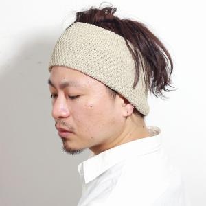 racal ヘアバンド メンズ 帽子 ニット ポップコーン編み 麻 日本製 レディース ニット ニット素材 ヘアーバンド 春夏 大人/ベージュ|elehelm-hatstore