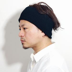 日本製 レディース ニット ニット素材 ヘアーバンド racal ヘアバンド メンズ 帽子 ニット ポップコーン編み 麻 春夏 大人/黒 ブラック|elehelm-hatstore