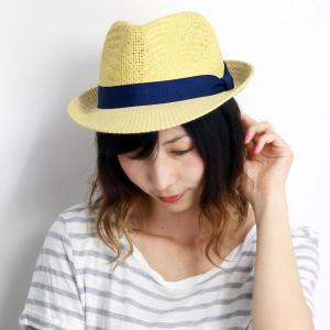 麦わら帽子 春夏 帽子 編み柄 中折れハット メンズ レディース ペーパーブレード ベージュ|elehelm-hatstore