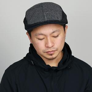 ルーベン チェック パッチワーク ハンチング  帽子 秋冬 RUBEN メンズ レディース サイズ調整可 黒 ブラック|elehelm-hatstore