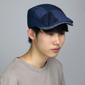 春夏 ハンチング RUBEN クレイジーパターン ユニセックス メンズ ハンチング帽 ルーベン レディース 帽子 紺 ネイビー|elehelm-hatstore