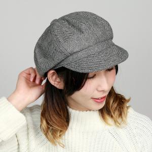 ツイード キャスケット 帽子 ルーベン ヘリンボン メンズ レディース RUBEN 秋冬 サイズ調整可 グレー elehelm-hatstore
