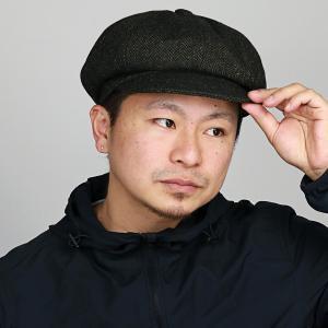 キャスケット 帽子 ヘリンボン ルーベン ツイード メンズ レディース RUBEN 秋冬 サイズ調整可 カーキ elehelm-hatstore